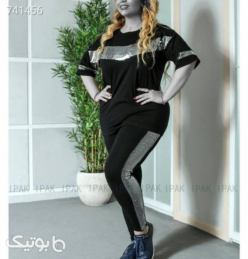 ست بلوز و شلوار زنانه  مشکی لباس راحتی زنانه