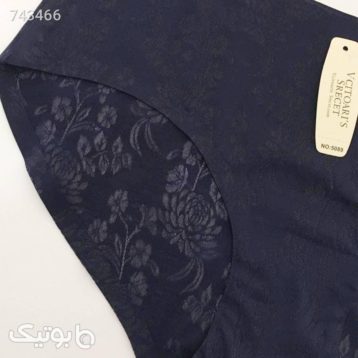 لباس زیر لیزری طرحدار فاق کوتاه بسته ۵ عددی VCITOARIS SRECET کدshw2108 آبی لباس زیر زنانه