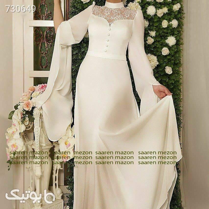ماکسی_عقد و نامزدی اسپوزا سفید لباس عروس