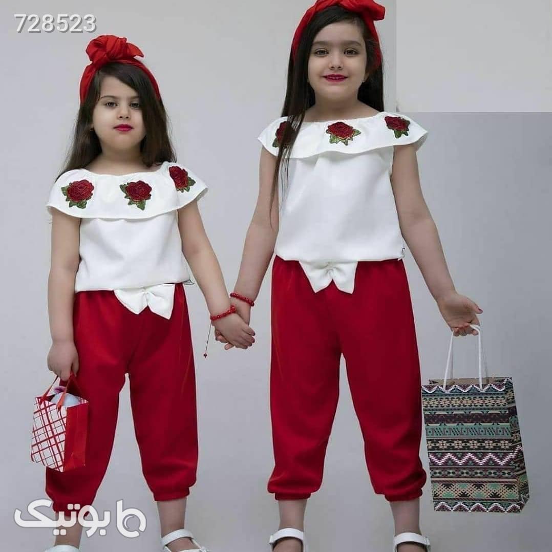 ست تاپ شلوارک دخترانه  صورتی لباس کودک دخترانه