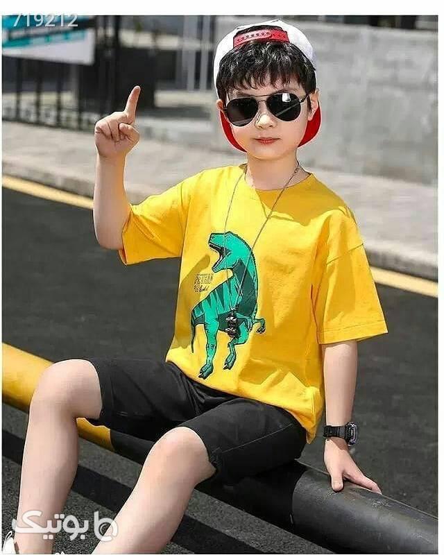 دو تیکه پسرانه زرد لباس کودک پسرانه