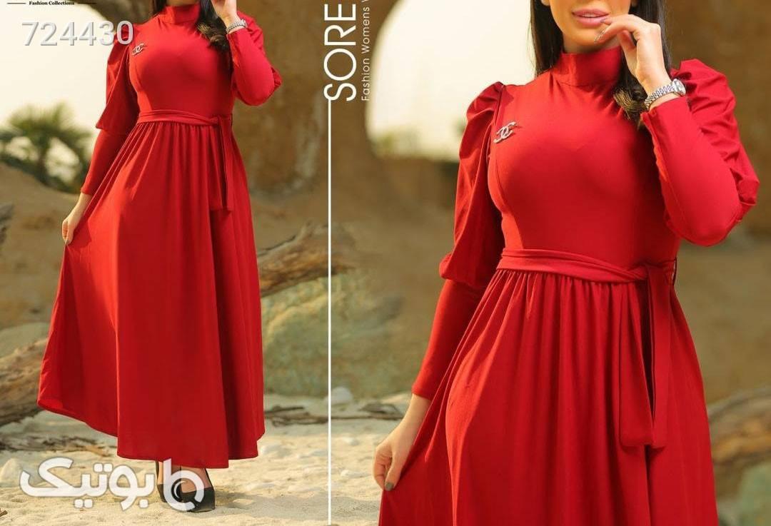 لباس بلند مجلسی قرمز لباس  مجلسی
