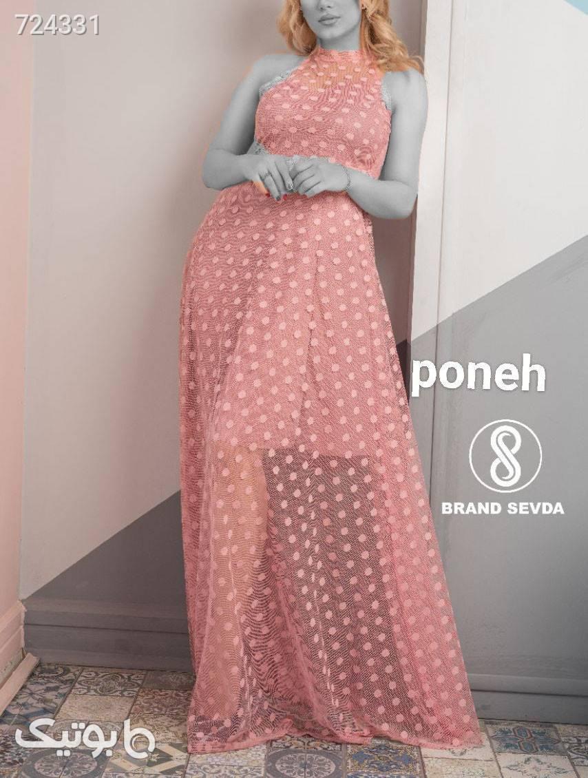 لباس مجلسی بلند  صورتی لباس  مجلسی
