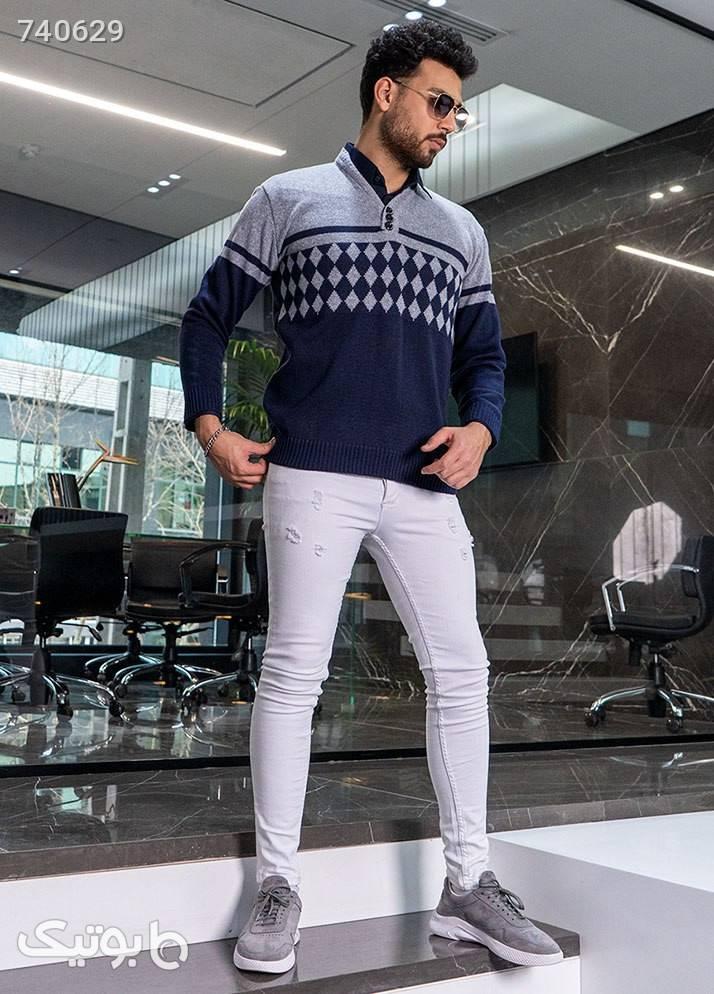 پليوربافت مردانه مدل Ariste سورمه ای پليور و ژاکت مردانه