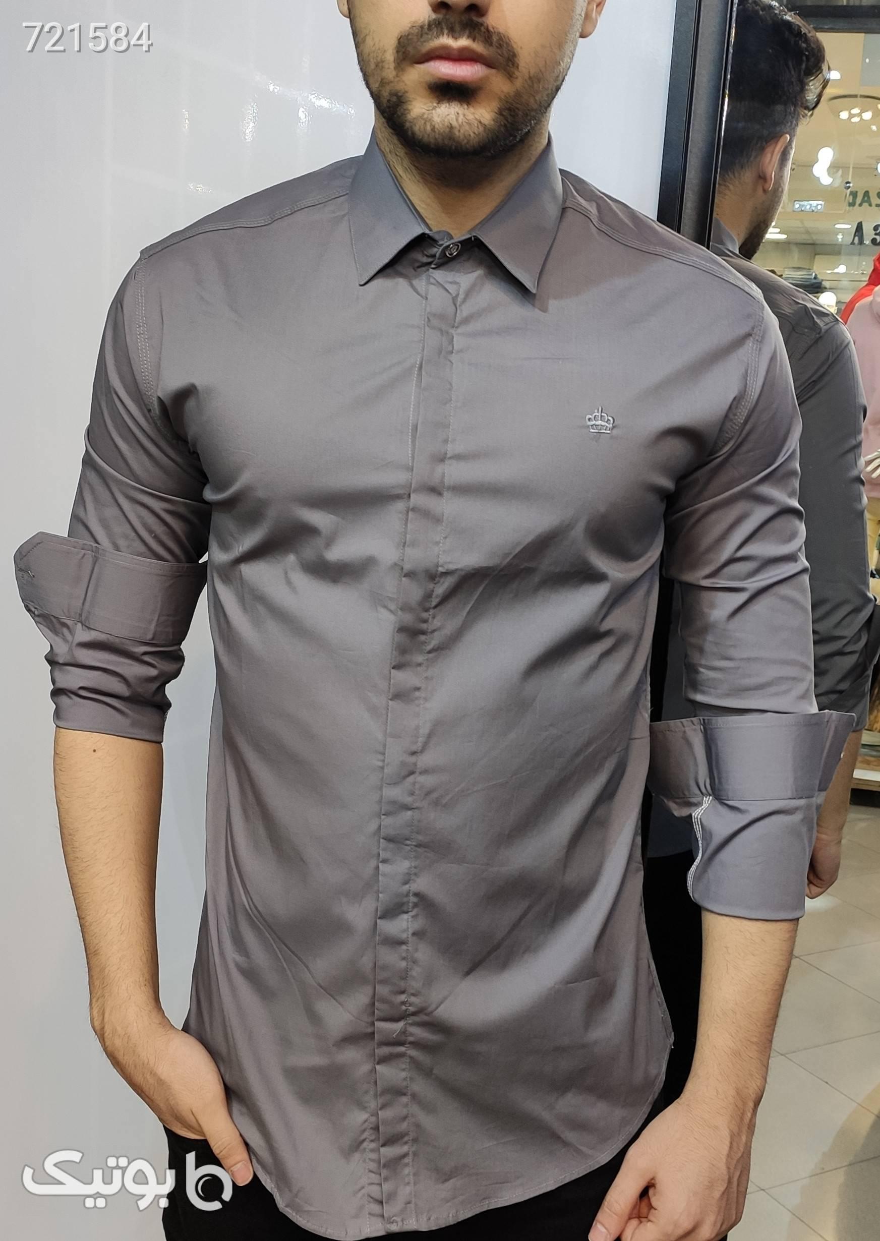 پیراهن ساده کلاسیک مشکی پيراهن مردانه