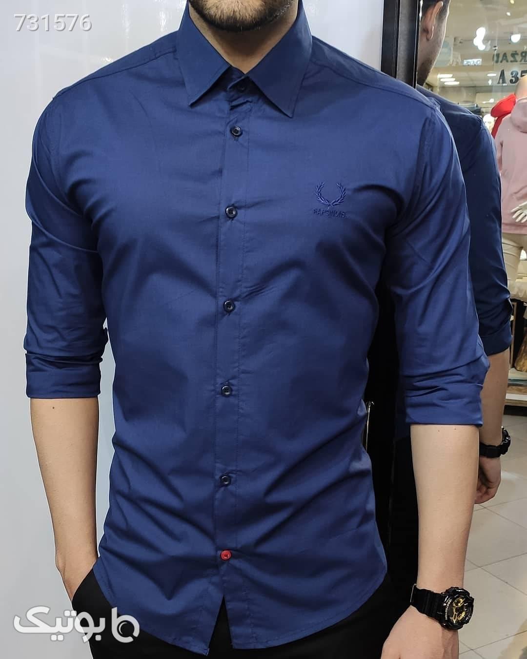 پیراهن ساده کلاسیک سبز پيراهن مردانه
