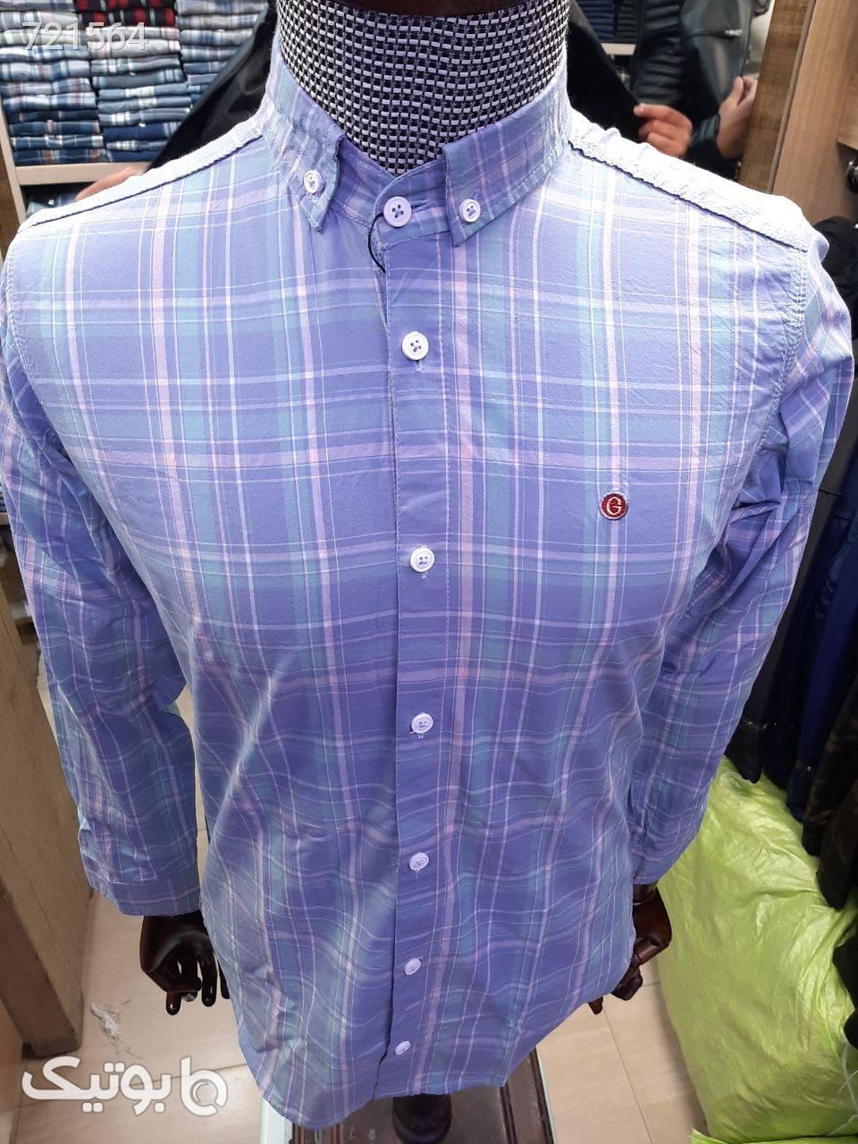 پیراهن مردانه نخ کتان بنفش پيراهن مردانه