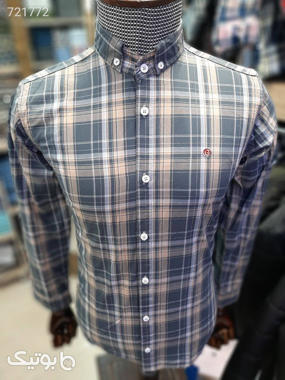 پیراهن مردانه نخ کتان صورتی پيراهن مردانه