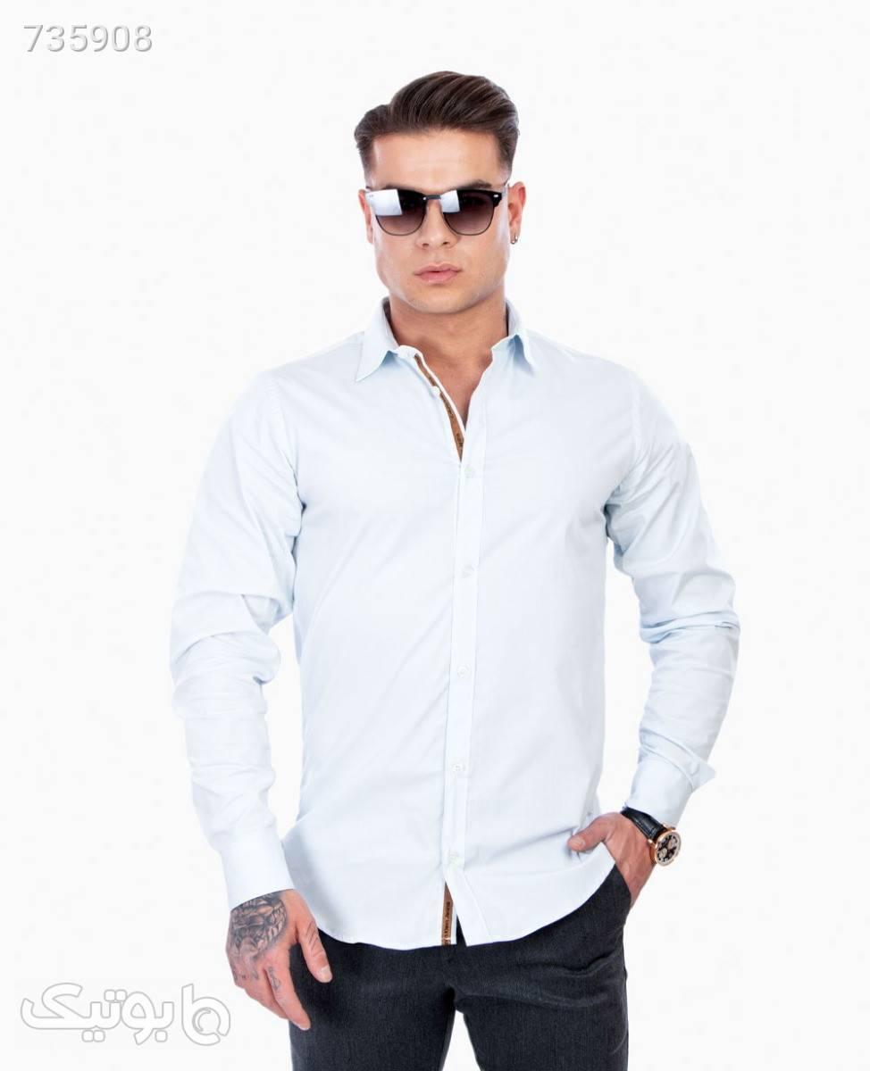 پیراهن مردانه Calvin Klein کد 1908Blue3XL سفید پيراهن مردانه