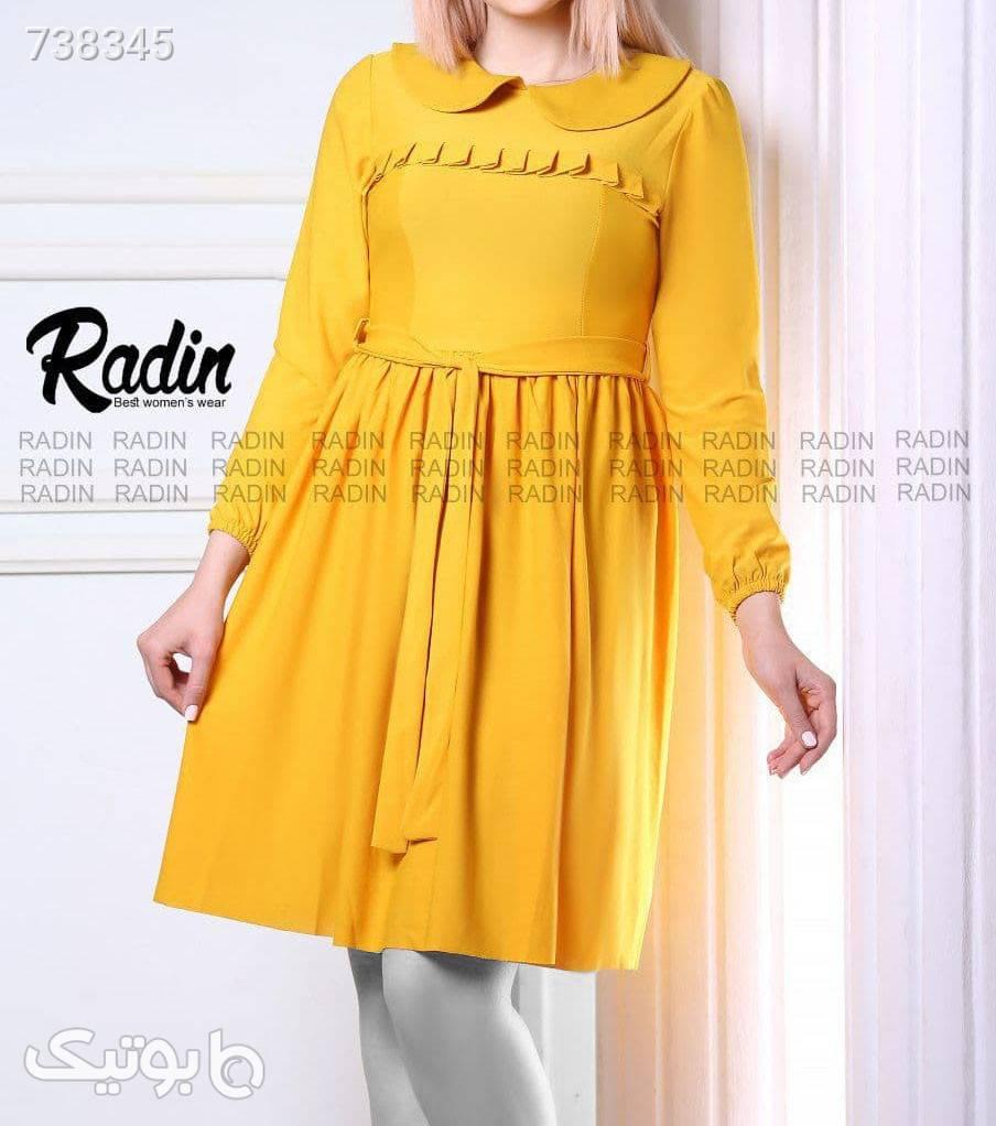 پیراهن طرح عطرین زرد پيراهن و سارافون زنانه