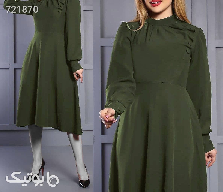 پیراهن طرح هوزان سبز پيراهن و سارافون زنانه