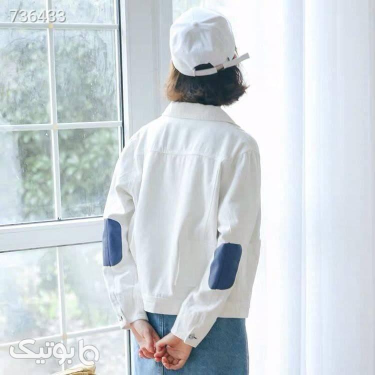کاپشن جین ۱۰۴۸ سفید کاپشن و بارانی زنانه