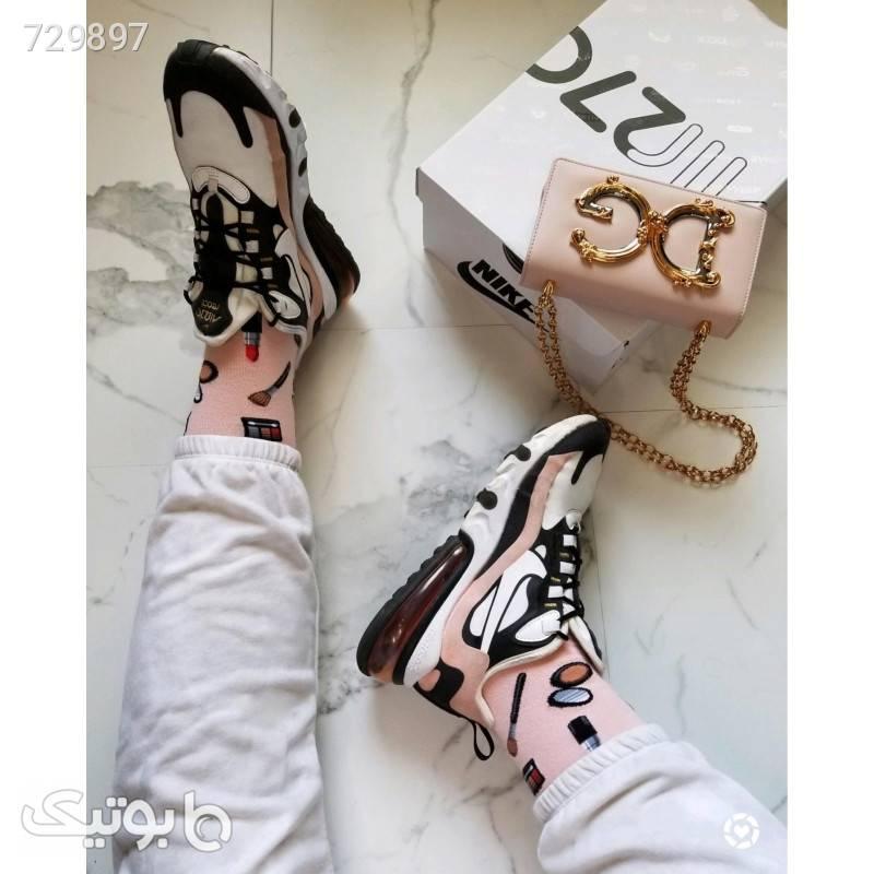 کتانی اصلی نایک ایرمکس 270 ری اکت کدرنگ Nike Airmax 270 React R15 سفید كتانی زنانه