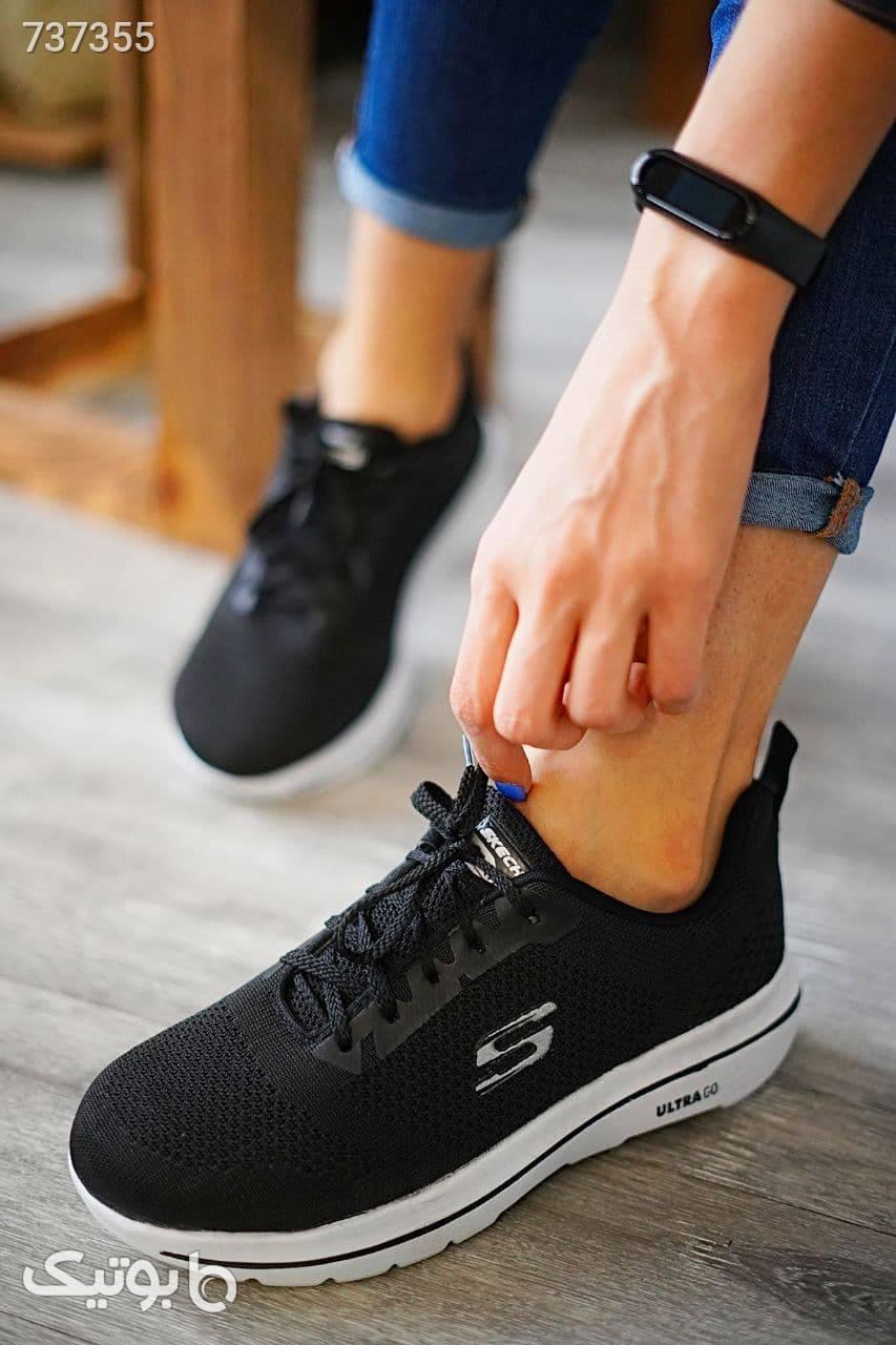 کفش اسپرت اسکیچرز دخترانه مشکی كتانی زنانه