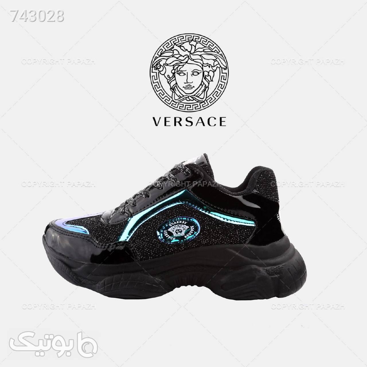 کفش زنانه VERSACE مدل 1249 مشکی كتانی زنانه