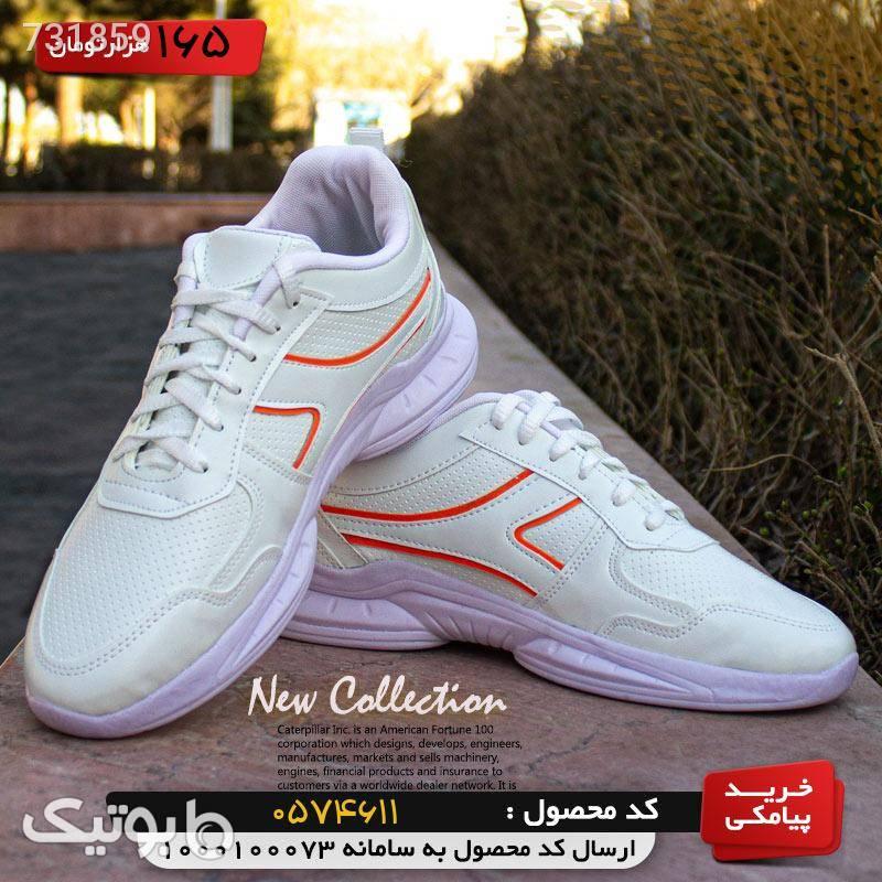 کفش مردانه مدل Neon (سفید نارنجی) نارنجی كتانی مردانه