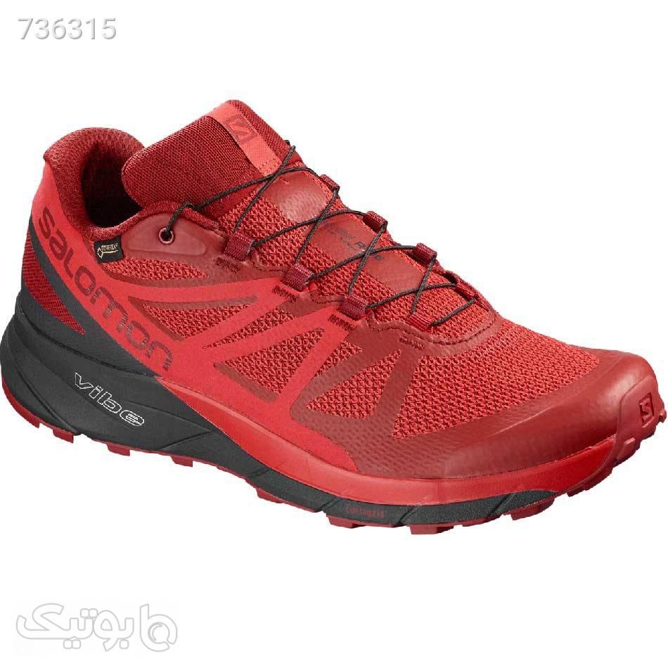 کفش پیاده روی و دویدن سالامون مدل Salomon Sense ride GTX قرمز كتانی مردانه