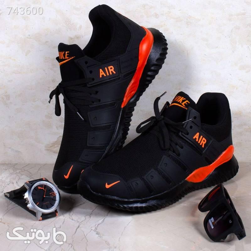 کفش  Nike مدل  Air2021(مشکی نارنجی) مشکی كتانی مردانه