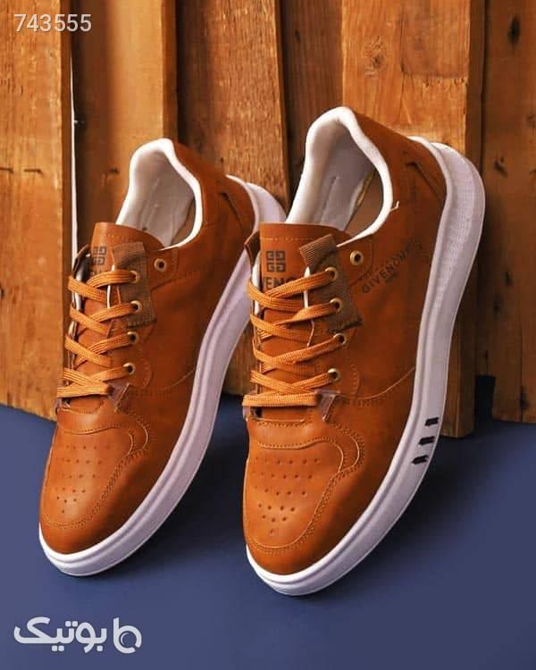 کفش راحتی مردانه مدل گیونچی قهوه ای كفش مردانه