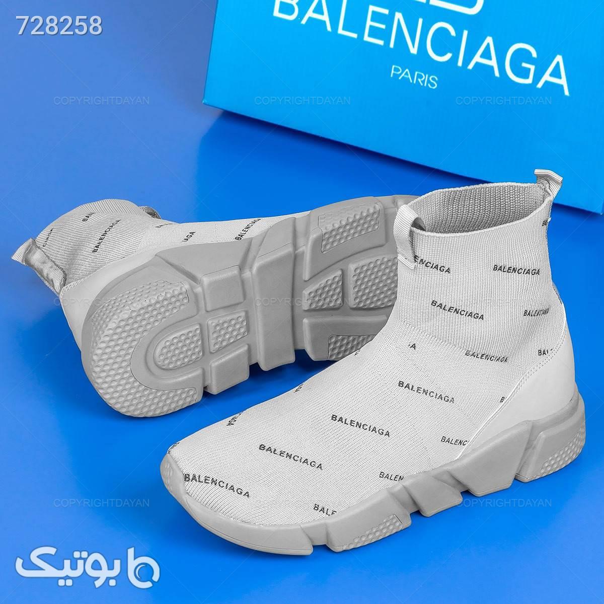 کفش ساقدار مردانه Balenciaga  نقره ای كفش مردانه