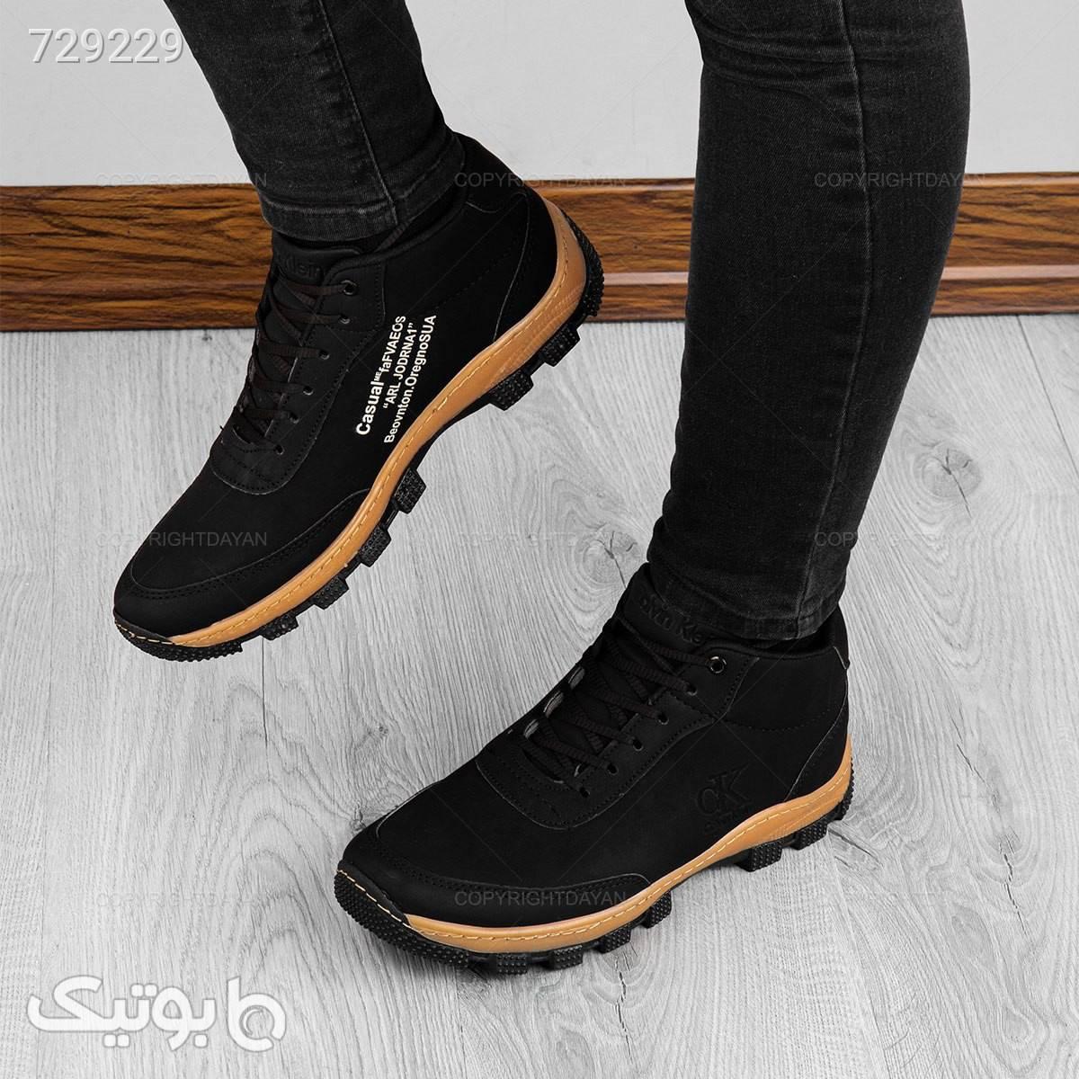 کفش ساقدار مردانه Calvin Klein  مشکی كفش مردانه