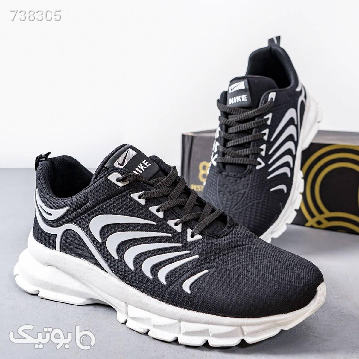 كفش مردانه مدل iham رنگ مشكي مشکی كفش مردانه