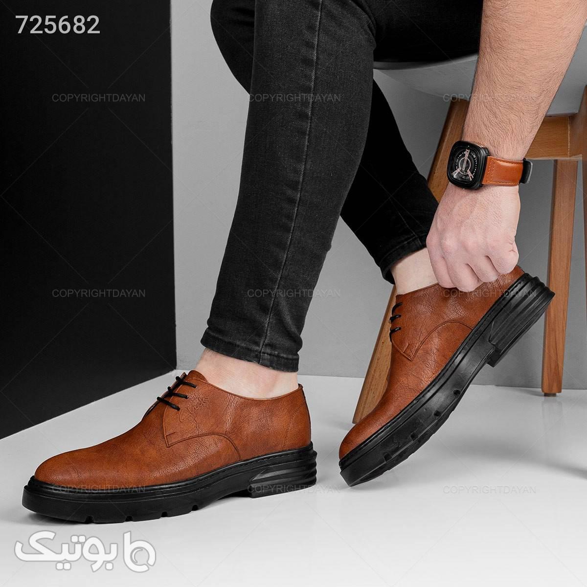 کفش مردانه Clarks مدل 18379 قهوه ای كفش مردانه