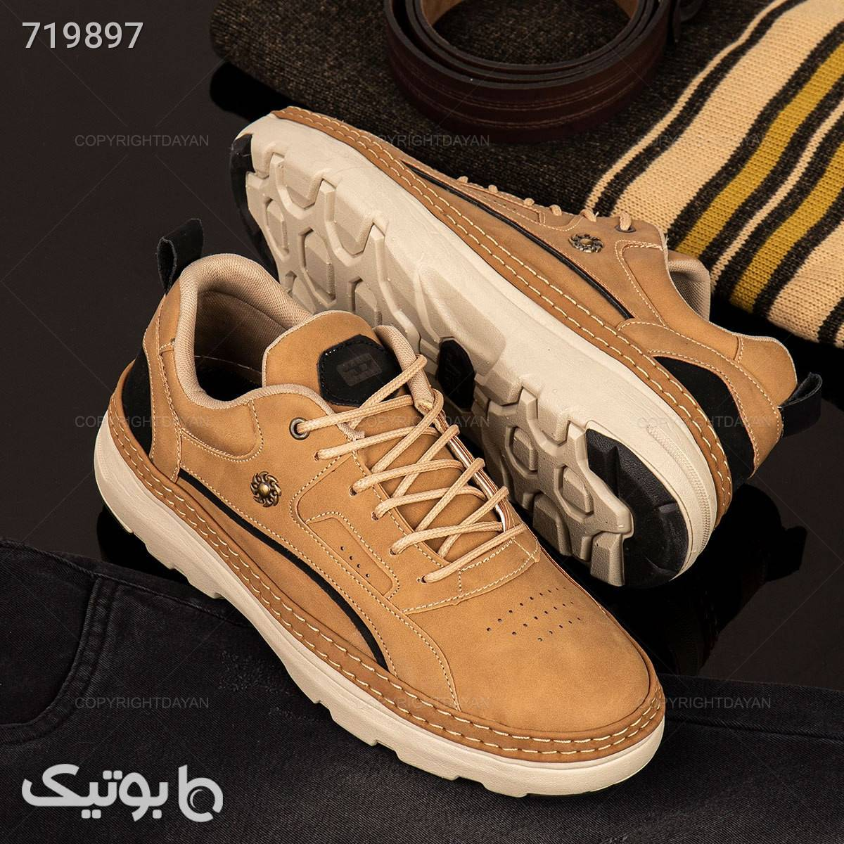 کفش مردانه Diesel مدل 18101 قهوه ای كفش مردانه