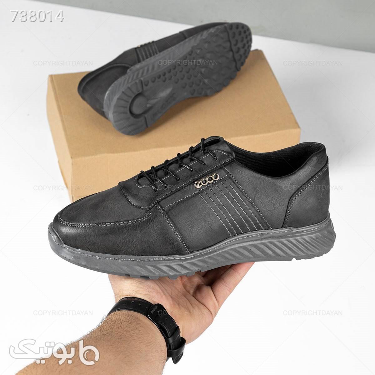 کفش مردانه Ecco مدل 18644 طوسی كفش مردانه
