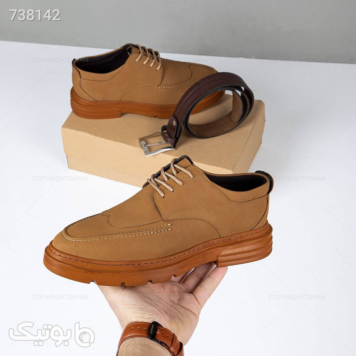 کفش مردانه Emery مدل 18548 قهوه ای كفش مردانه