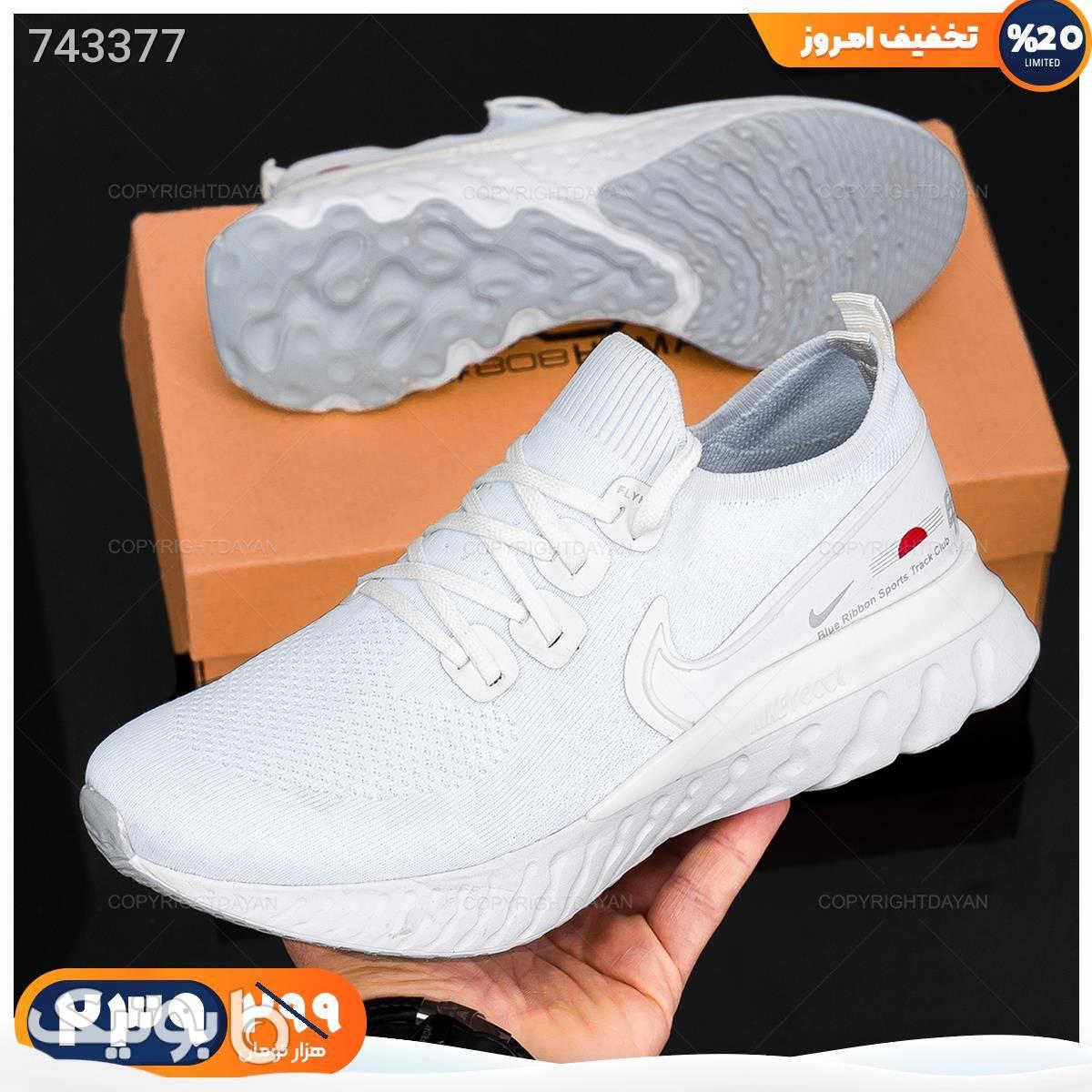 کفش مردانه Nike مدل 18769   سفید كفش مردانه
