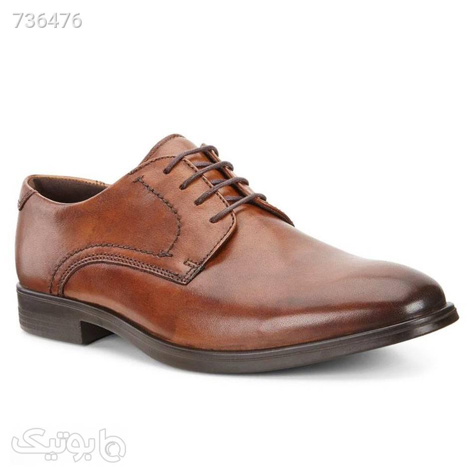 کفش چرمی مردانه اکو Ecco Melbourne قهوه ای كفش مردانه