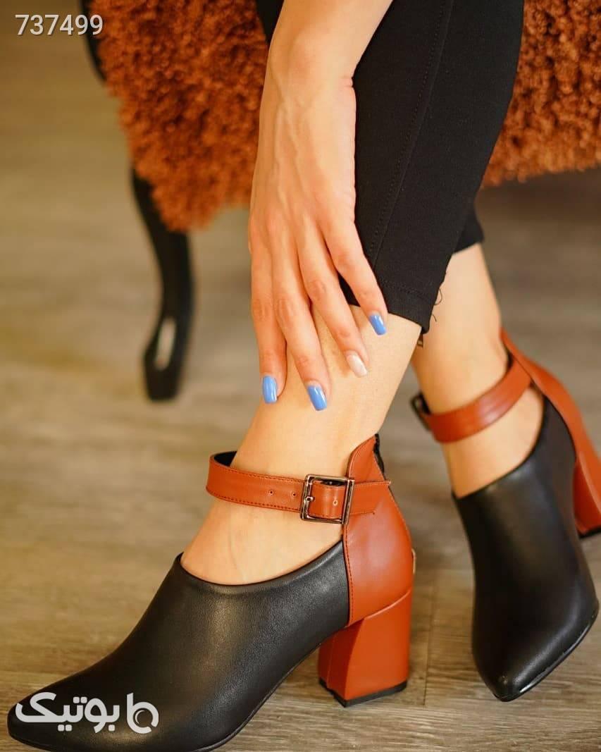 کفش زنانه  قهوه ای كفش پاشنه بلند زنانه