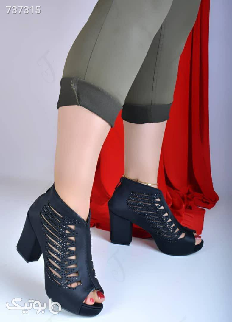 کفش مجلسی زنانه شیک مشکی كفش پاشنه بلند زنانه