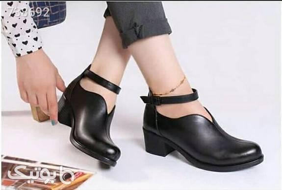 کفش چرم زنانه مشکی كفش پاشنه بلند زنانه