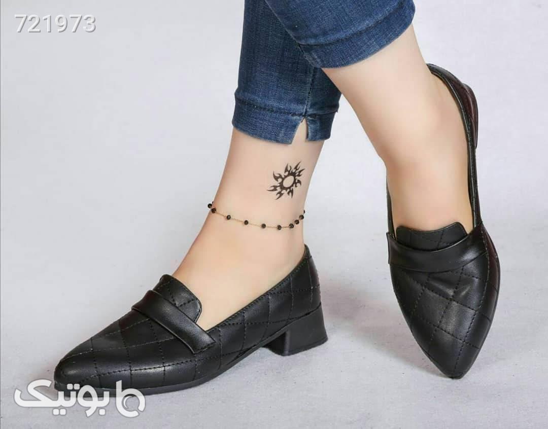 کفش قهوه ای كفش پاشنه بلند زنانه