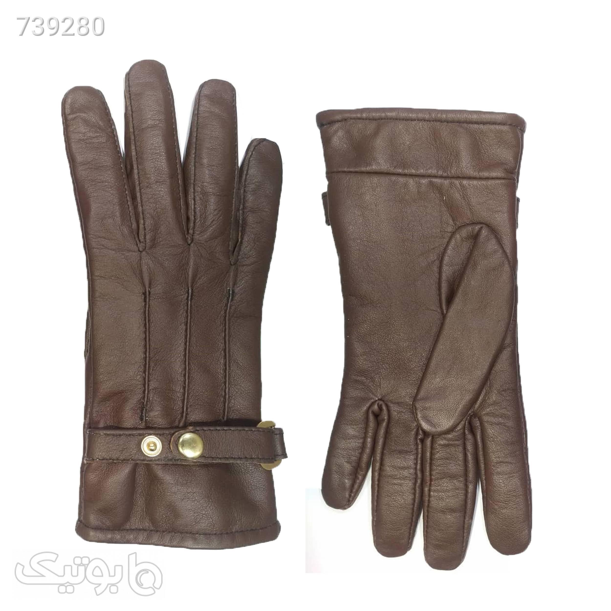 دستکش زمستانی مدل Da 569 قهوه ای کلاه بافت و شال گردن و دستکش
