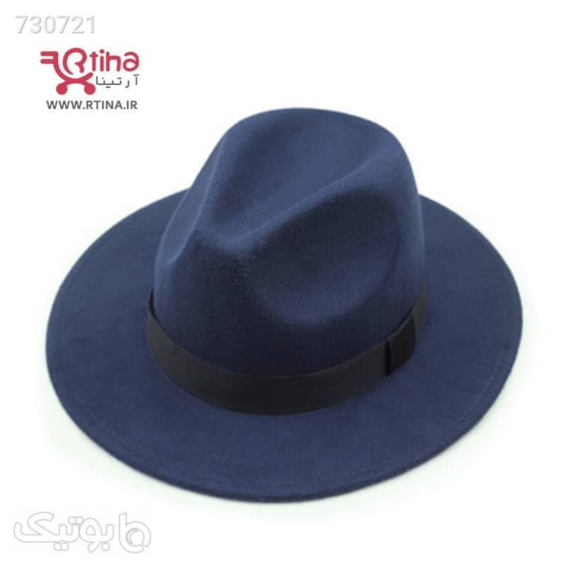 کلاه شاپو کلاسیک رنگ سورمه ای تیره مدل RT704 سورمه ای کلاه و اسکارف