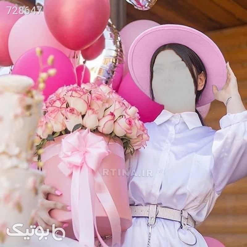 کلاه فدورا صورتی دخترانه و زنانه کد RT712 صورتی کلاه و اسکارف