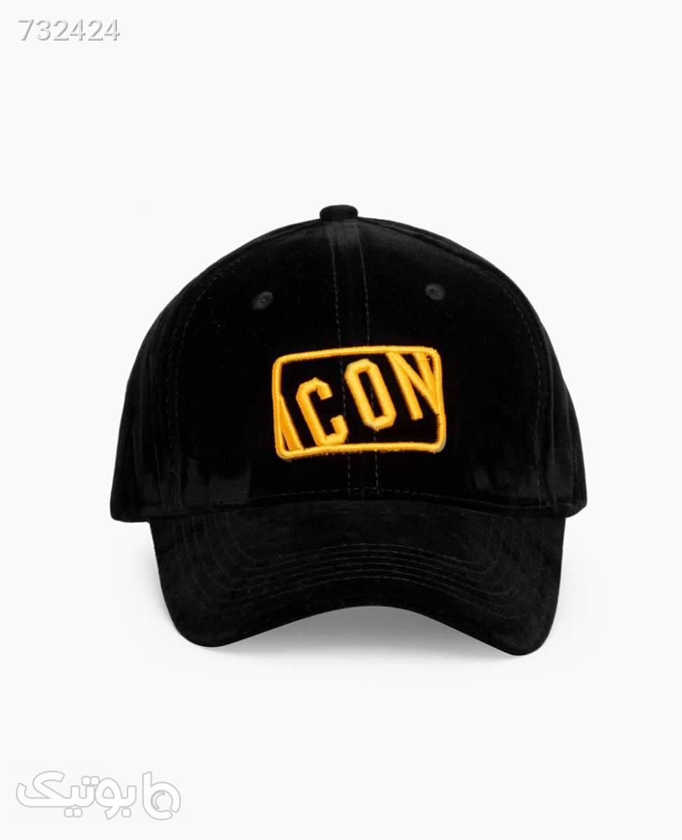 کلاه لبه گرد مخمل Icon کد 0745Black مشکی کلاه و اسکارف