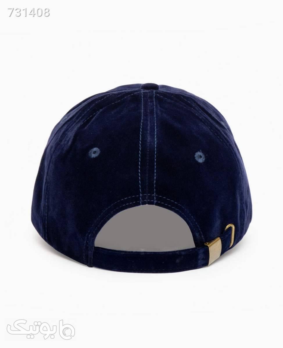 کلاه لبه گرد مخمل Icon کد 2548Blue سورمه ای کلاه و اسکارف
