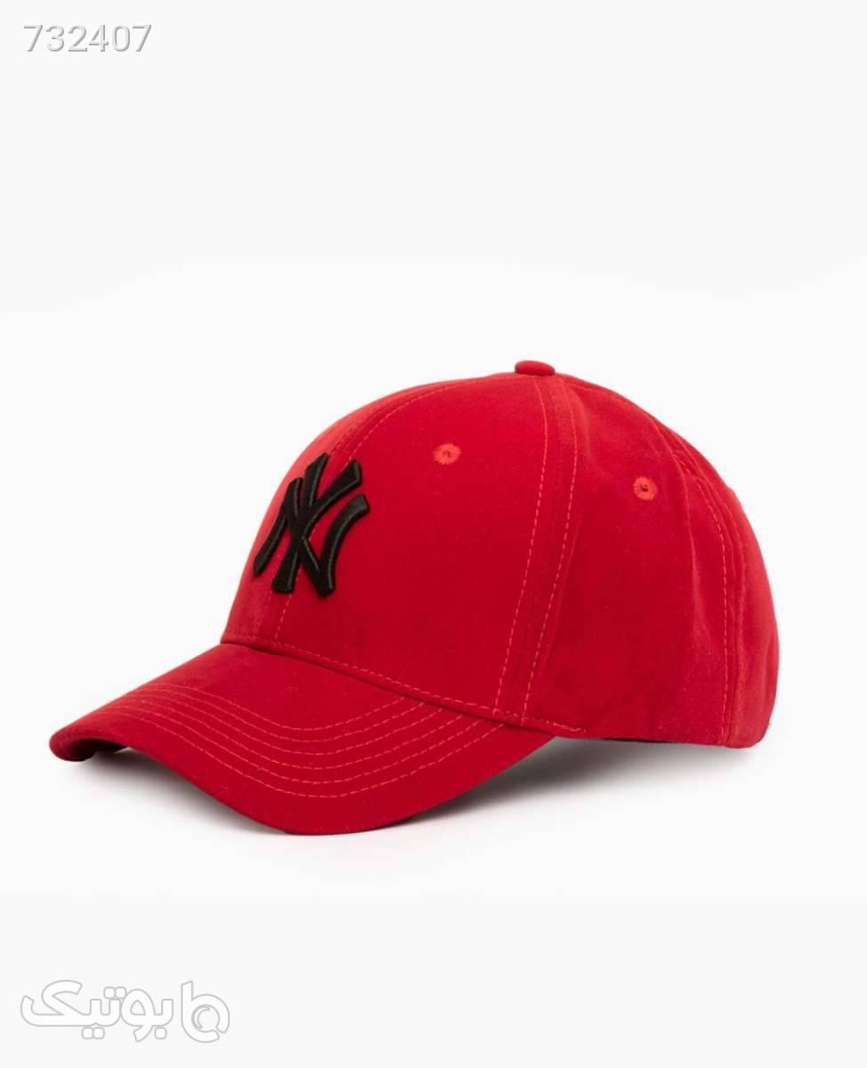 کلاه لبه گرد مخمل NY کد 2605Red قرمز کلاه و اسکارف
