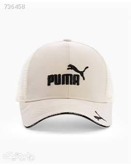 کلاه لبه گرد Puma کد 8458LightCream سفید کلاه و اسکارف