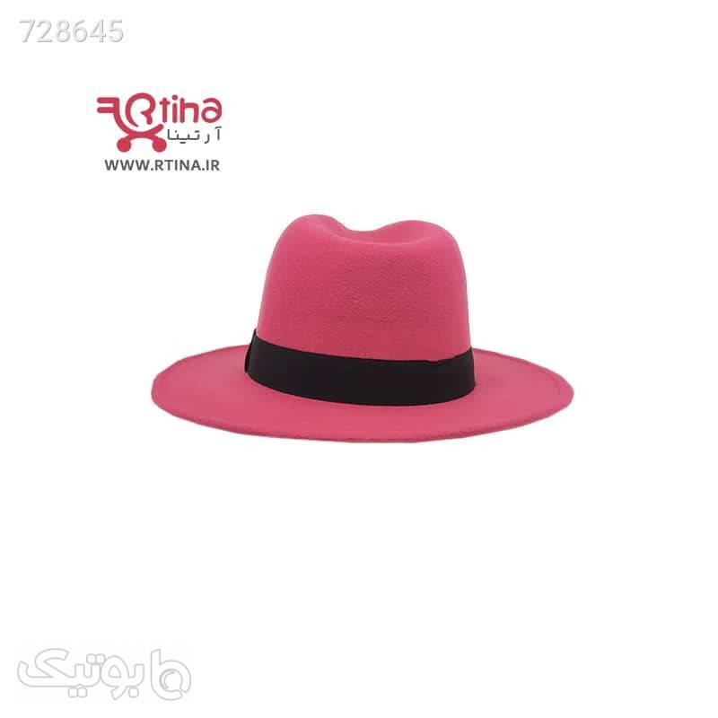 کلاه نمدی شاپویی دخترانه و زنانه مدل RT711 صورتی کلاه و اسکارف
