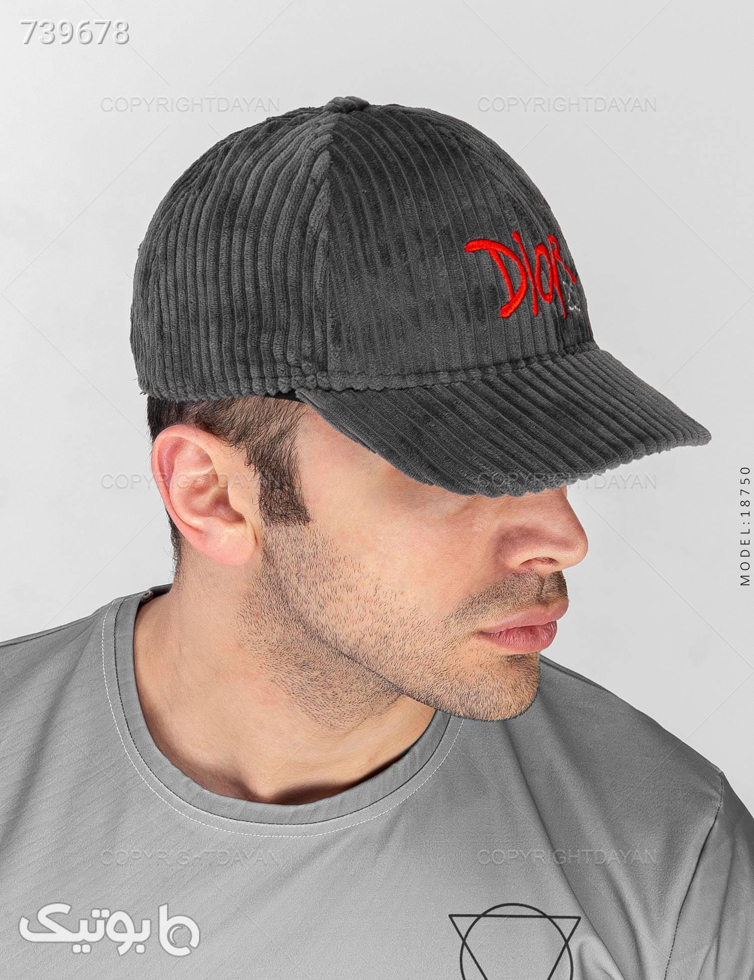 کلاه کپ Dior مدل 18750 طوسی کلاه و اسکارف