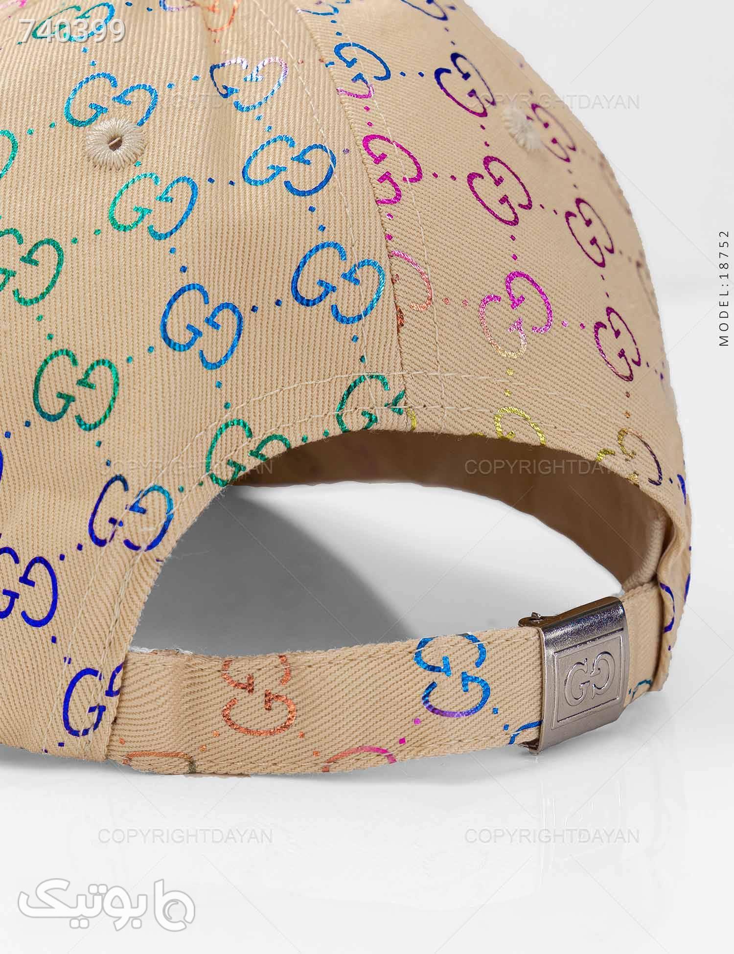 کلاه کپ Gucci مدل 18752 کرم کلاه و اسکارف