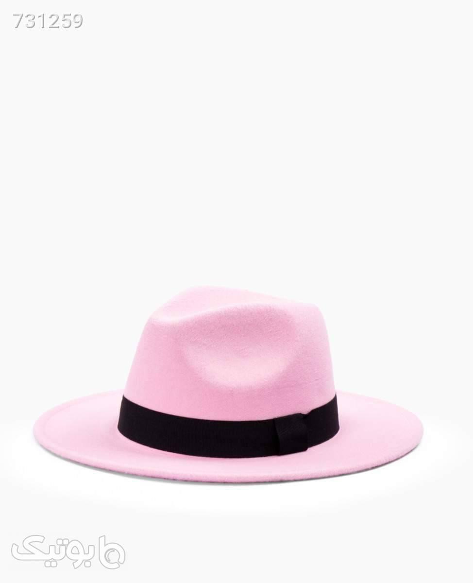 کلاه Fedora کد 1836Pink صورتی کلاه و اسکارف
