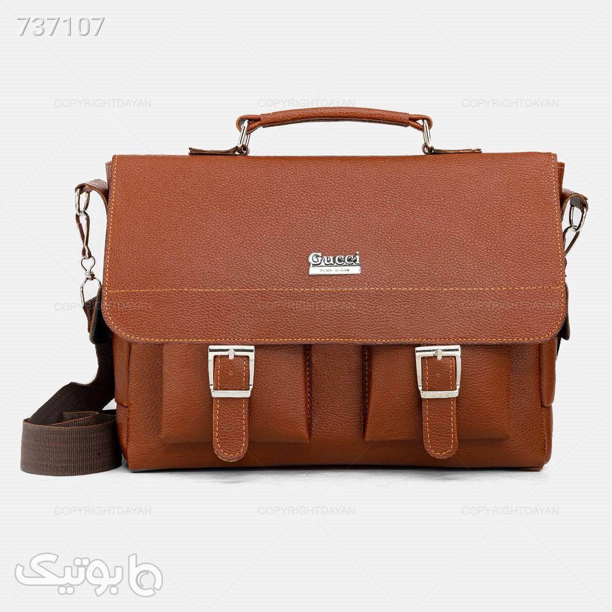 کیف اداری Gucci مدل 18095 قهوه ای کیف اداری