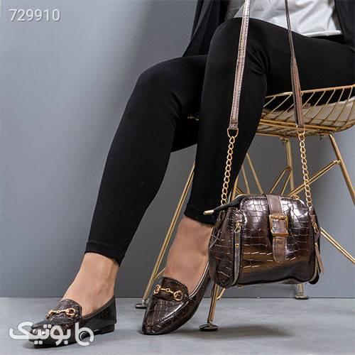 ست كيف و كفش دخترانه رنگ دودي مدلSaylor قهوه ای کیف و کفش بچگانه
