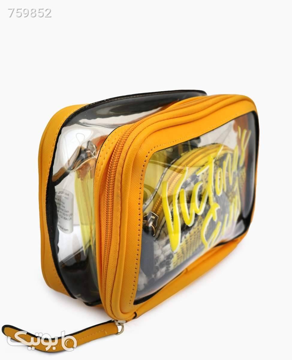 کیف آرایشی بسته سه تایی Victoria's Secret کد 6379Yellow زرد ابزار آرایشی